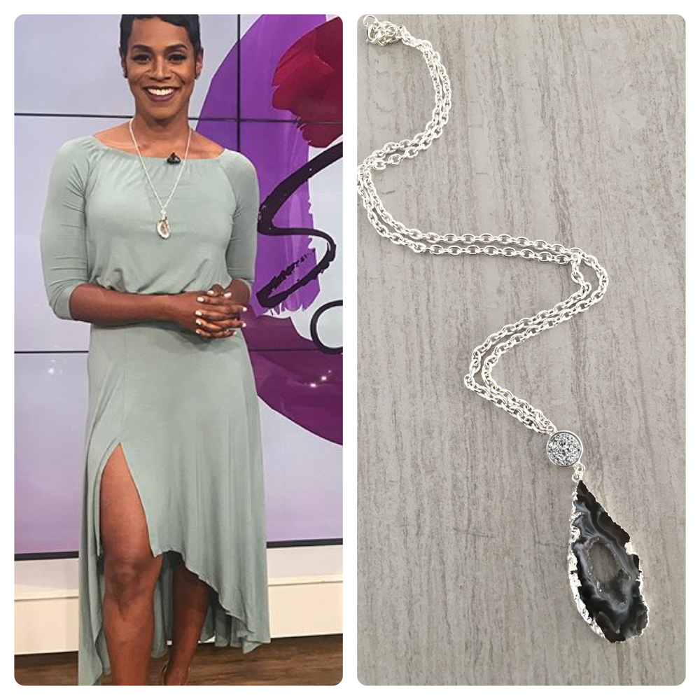 Rashan Ali, Cohost of Sister Circle TV wears T. Victoria Jewelry