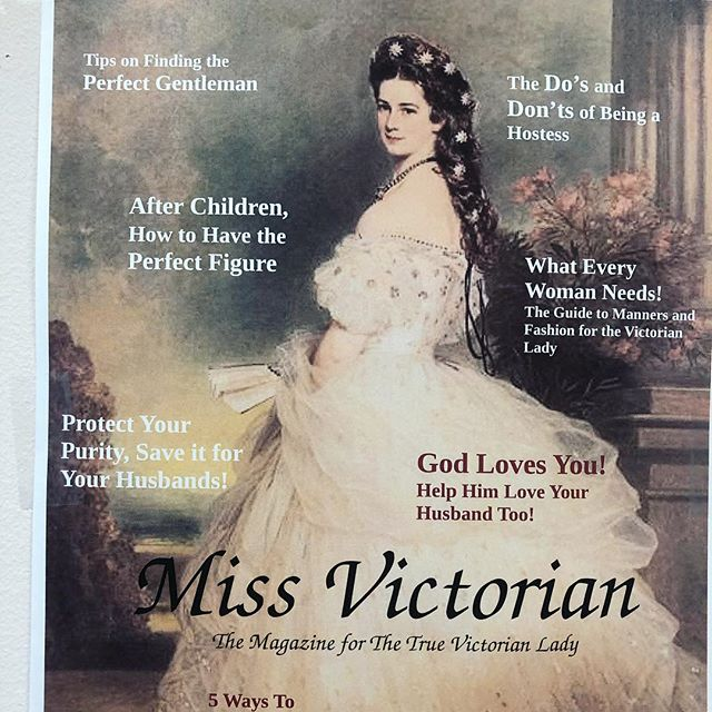 One of my favorite projects this year! Some students in Victorian gender and sexuality created magazine covers designed for the ideal Victorian middle class lady, and the results are pretty fabulous!