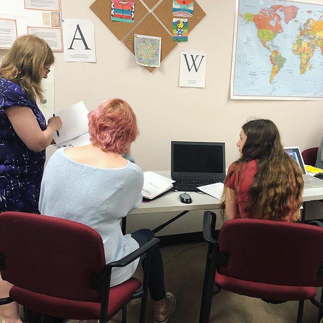 Hard at work, or hardly working? #theacademy30338 #atlantahomeschool #homeschoolinghighschool