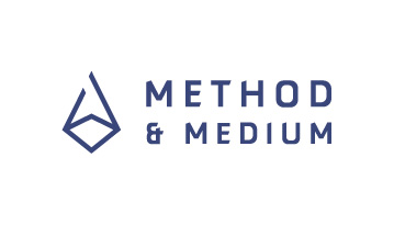 method and medium, logo design, brand design, graphic design