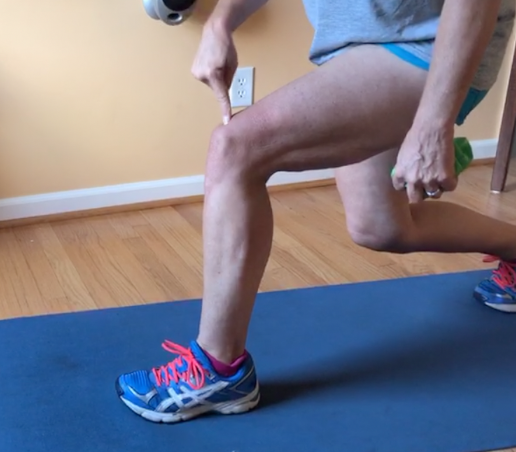 Lunge form: Knees BEHIND toes. BEHIND them. Are you sensing a theme?