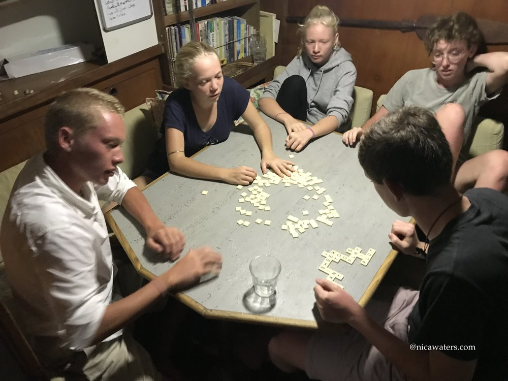 Kids and bananagrams