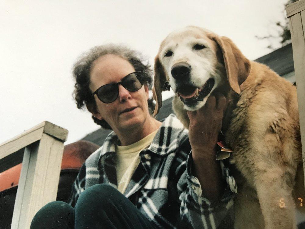 Sue, with her beloved Travis