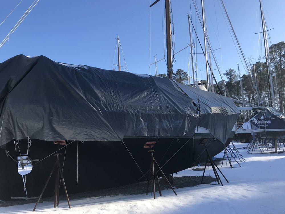 Winter storage for Calypso, 2017/2018