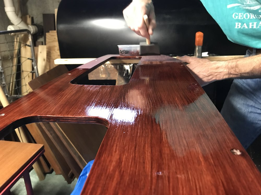 Wood stain, 101.