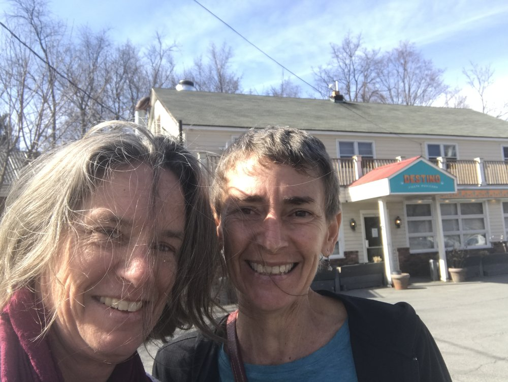 Jan and Nica, windblown and happy!