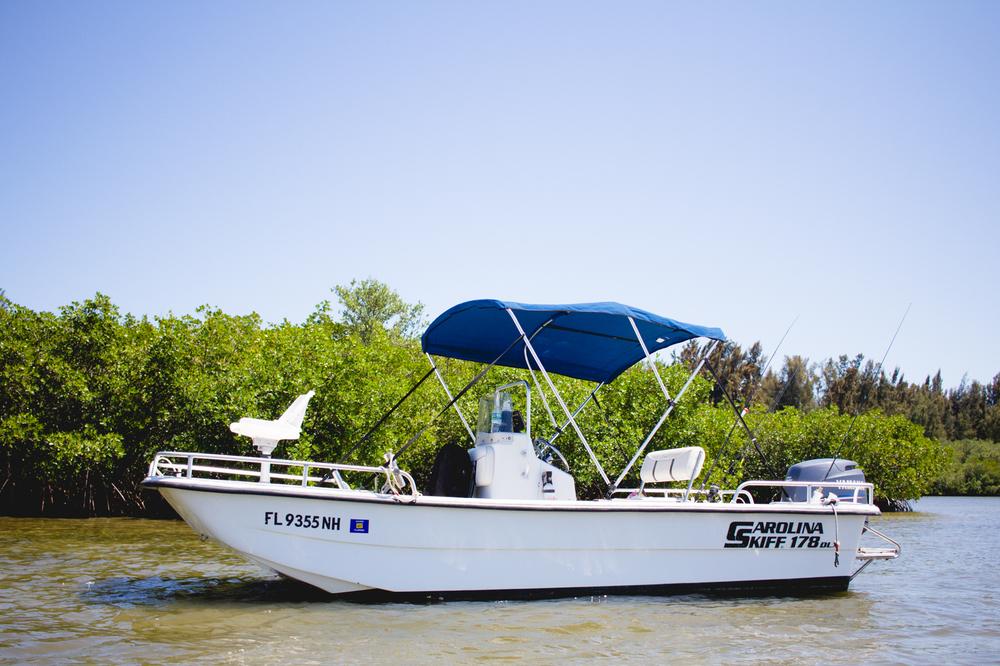 Fl Boat Rentals 16' Center Console Fishing Boat, Vero Beach, Florida