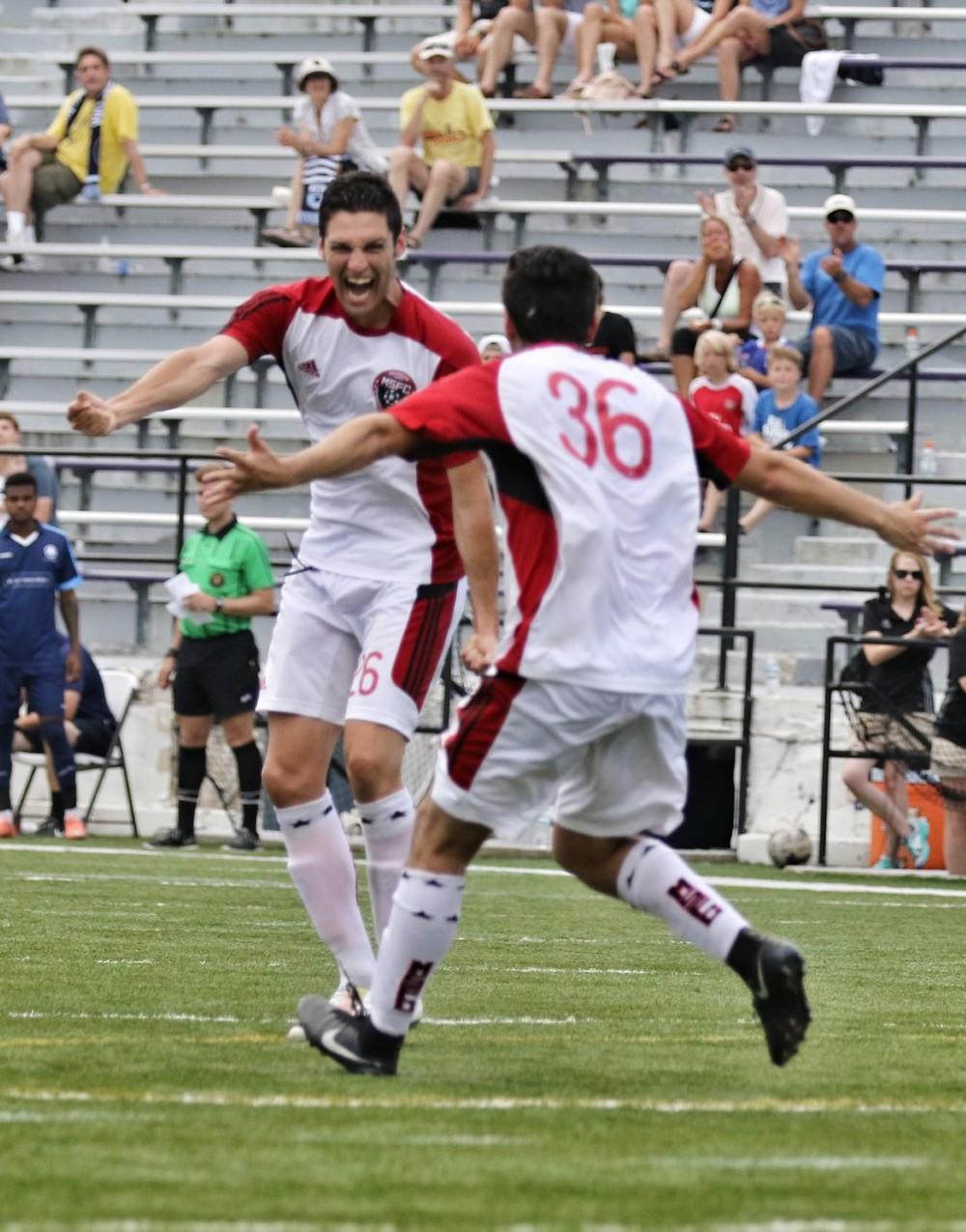 Jon Rubio, Man of the Match and Lone Goal Scorer For Michigan Stars FC 1-1 Tie Photo Credit: Joe Judge