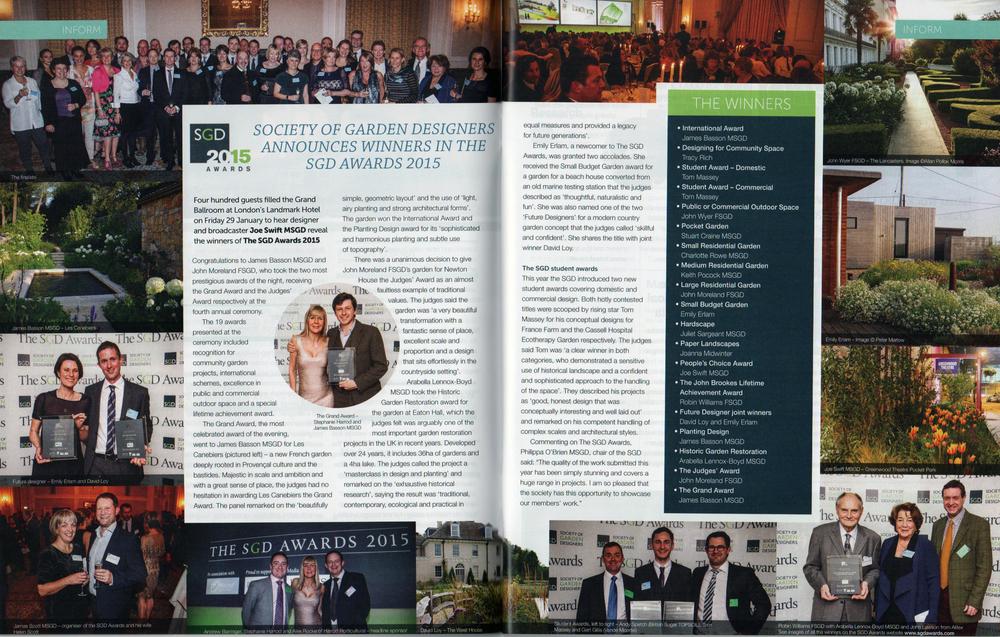 Pro Landscaper SGD Awards Article