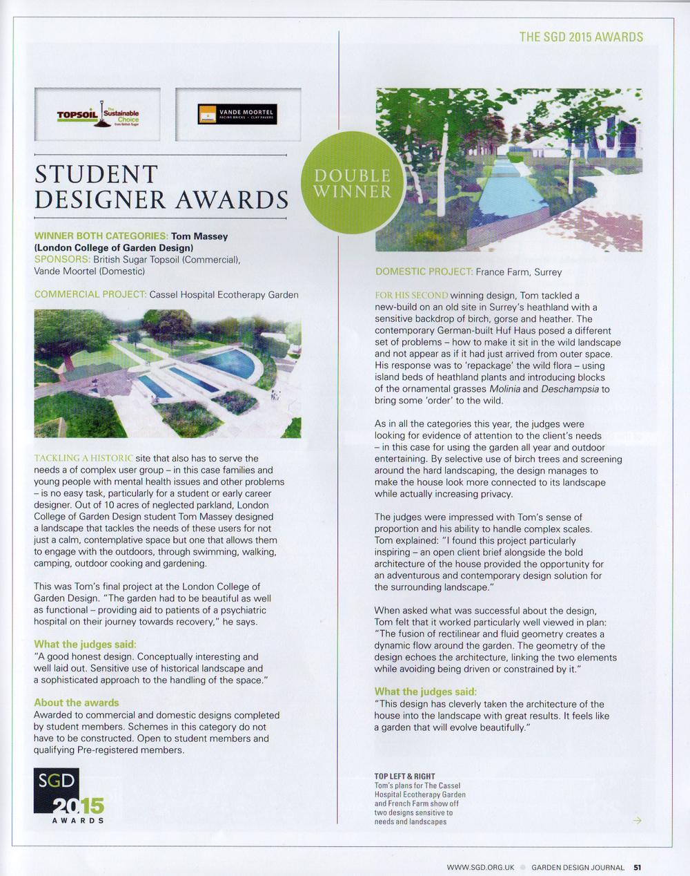 SGD Garde Design Journal Article
