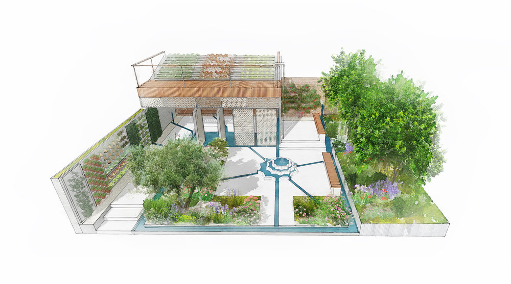 The Lemon Tree Trust Garden RHS Chelsea Flower Show 2018
