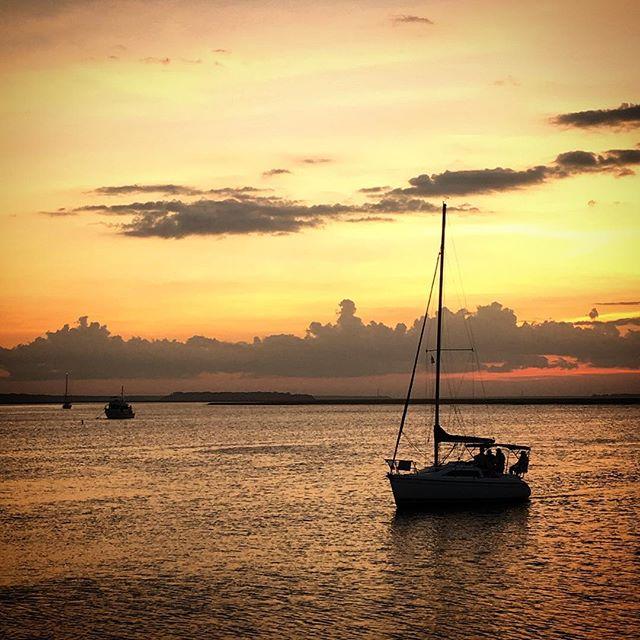 Ending the night relaxing on Amelia island