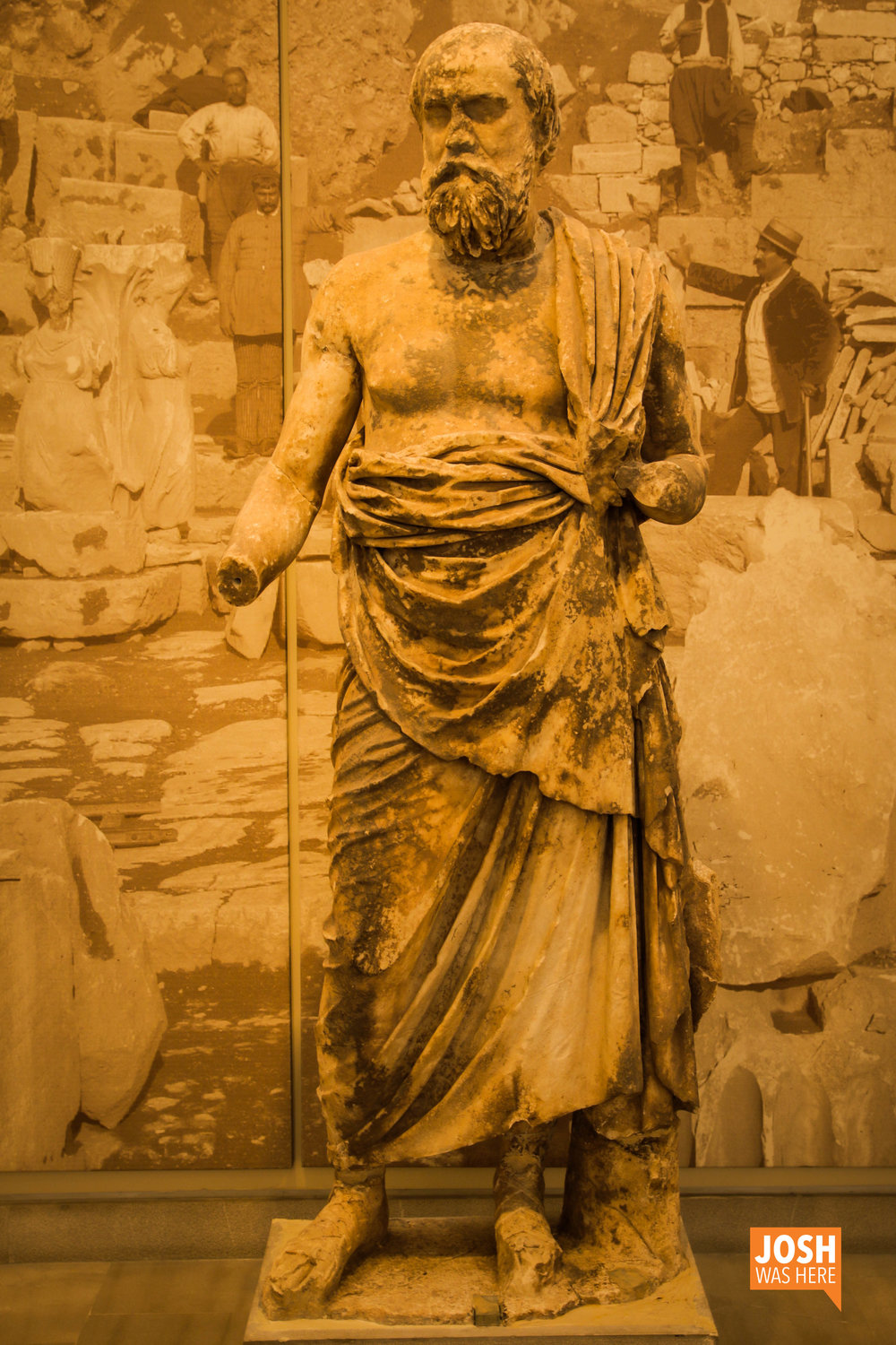 Socrates at the Delphi Archaeological Museum