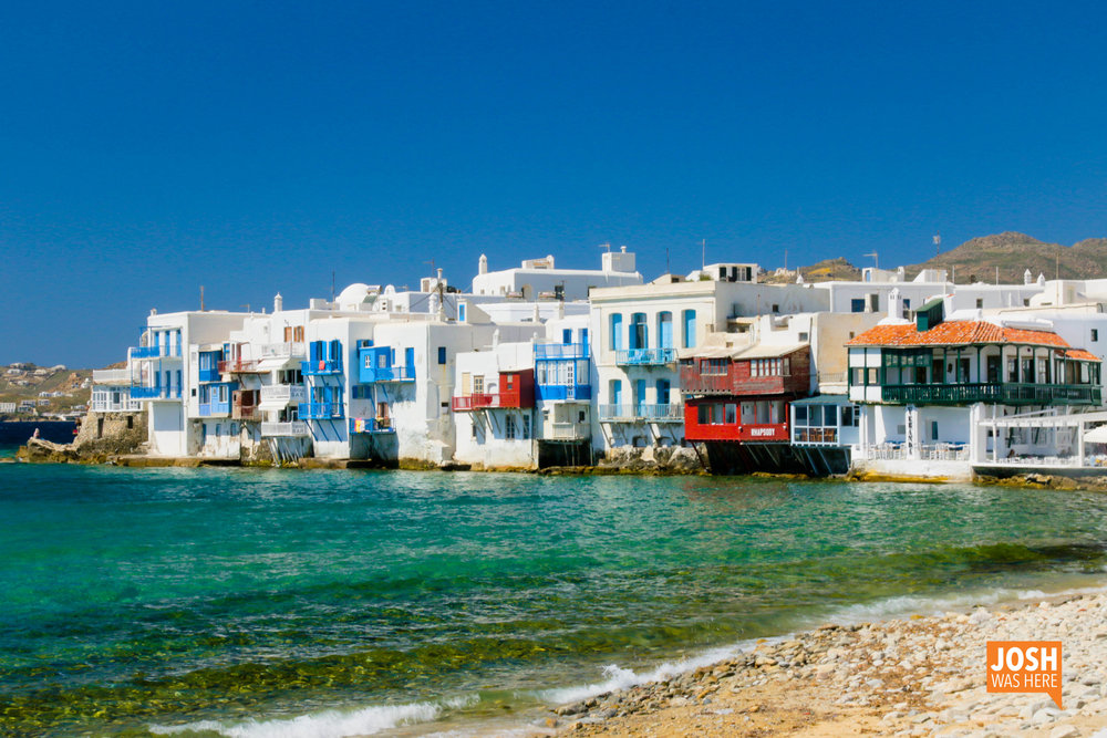 Little Venice, the skyline of Mykonos