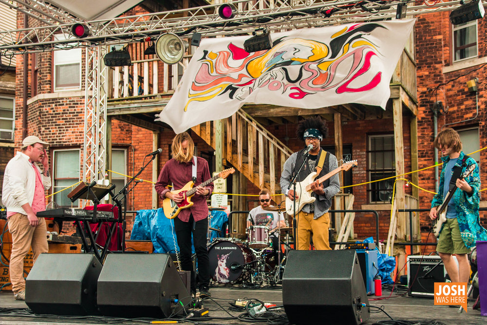 The Landmarks perform at The Alley Stage