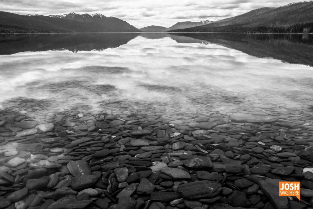 Lake McDonald from the north, Lake McDonald Ranger Station