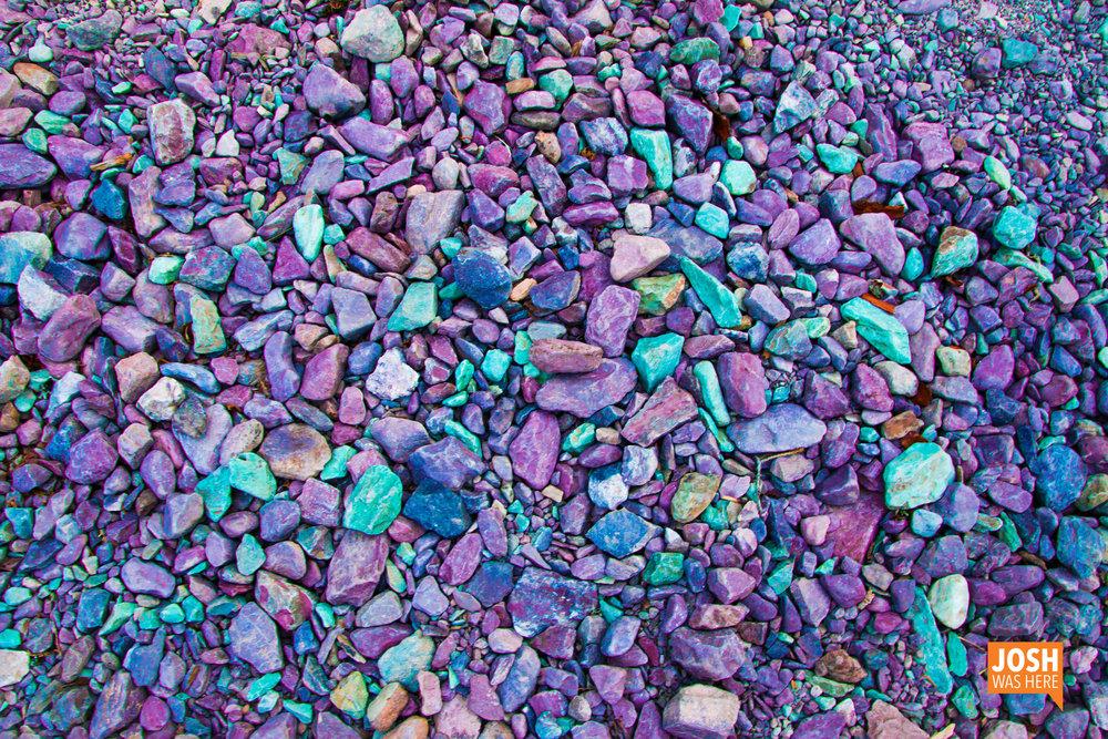 Purple pebble pop rocks