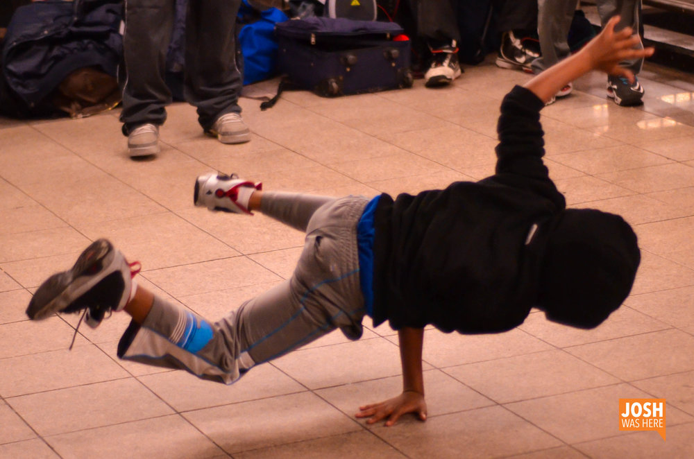 Breakdancing in the subway