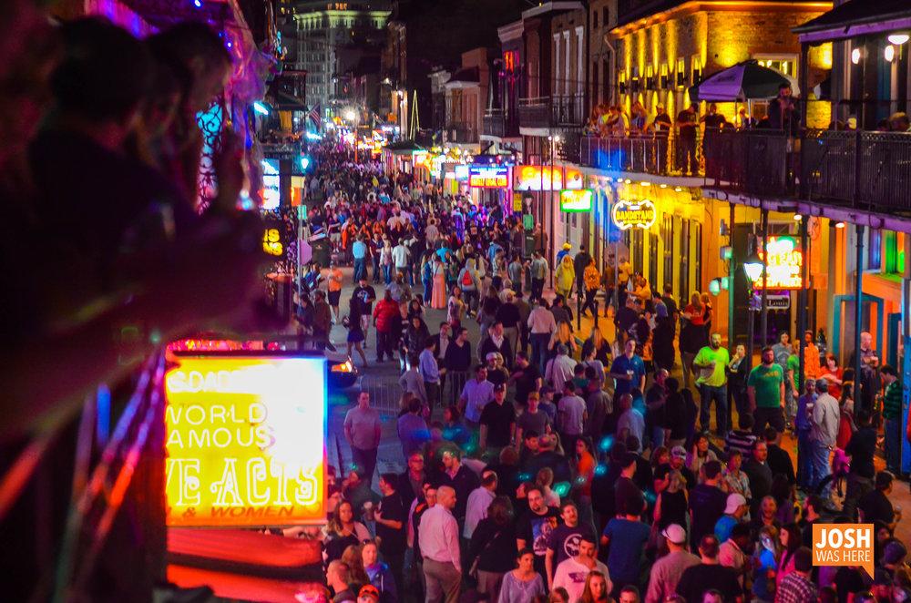 Bourbon Street, Monday night