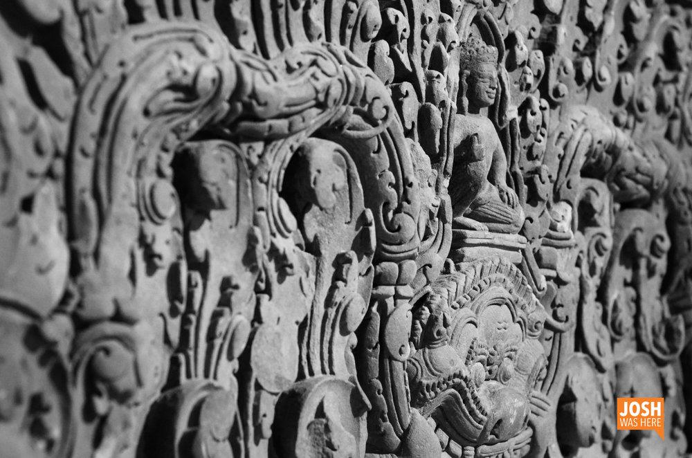 Lintel with Vishnu on Kala, 10th Century Cambodia, Khemer Kingdom