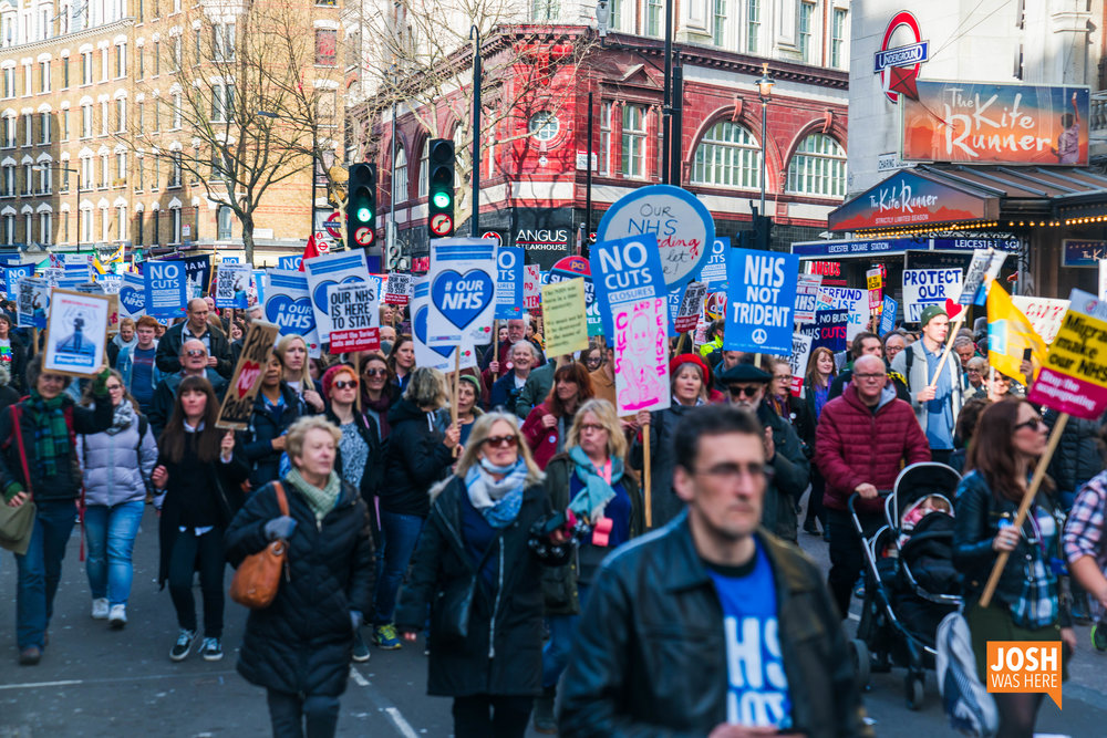 """""""No ifs, no buts, no NHS cuts!"""""""