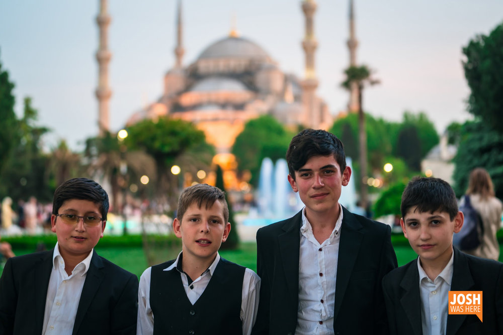 Dapper young lads, at the Blue Mosque / Sultan Ahmet Camii