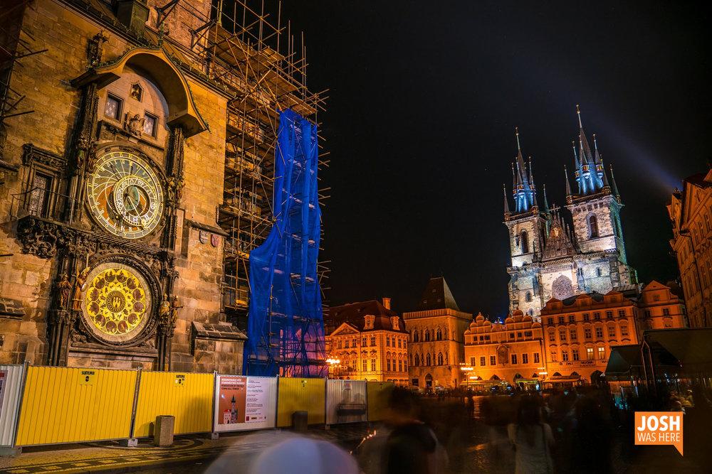 Prague Astronomical Clock /Pražský orloj & Church of Our Lady before Týn /Chrám Matky Boží před Týnem, at Old Town Square / Staroměstské náměstí