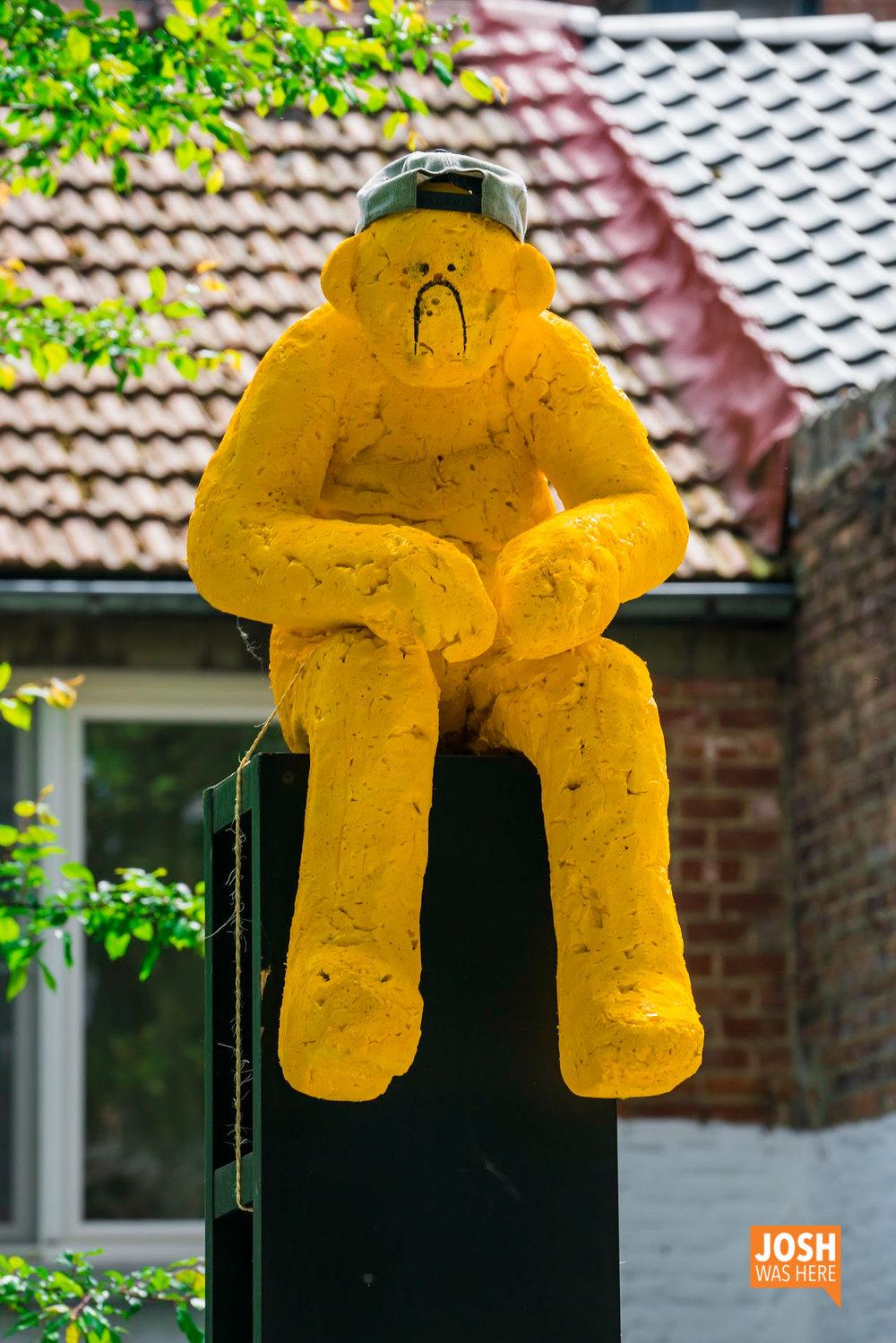 Grumpy yellow man