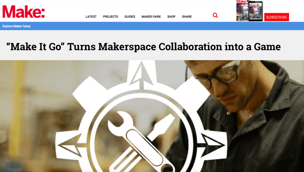 "MakeItGo is the ""improv of making"" - take an idea, play with it and pass it on!"