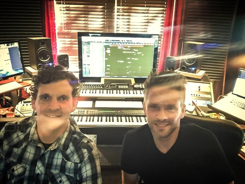 Recording Heartland at Whine Cellar Studio in TN with Jim Daneker.