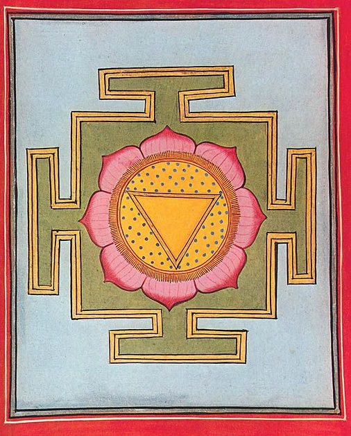 Yoni Yantra, art from ancient India