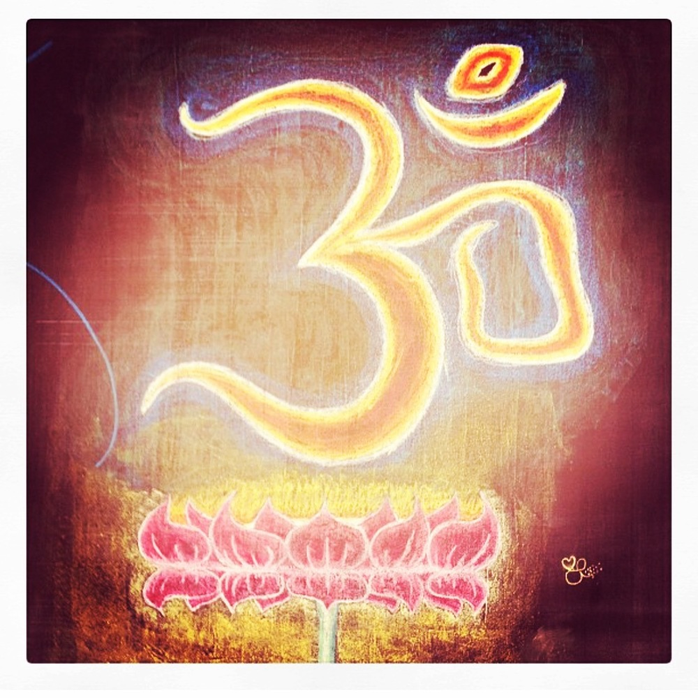 Ohm artwork with chalk by Aaron Schwaller