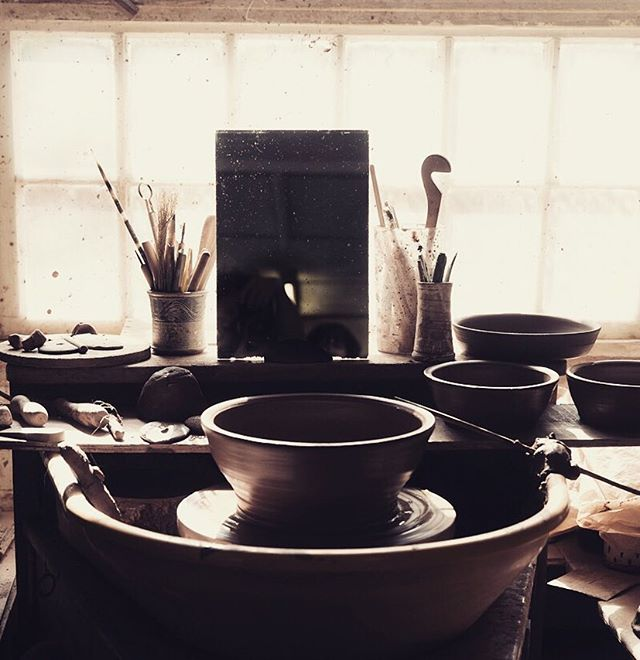 The beautiful pottery wheel of our newest artisan @penny_simpson_ceramics #pottery #potter #artisan #potterywheel