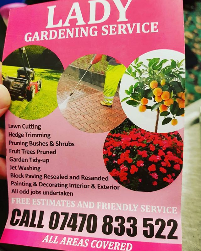 Friendly local services are the best #ladygarden