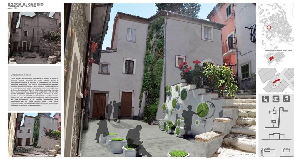Rocca di Cambio - Prefigurazione progettuale di uno degli spazi pubblici