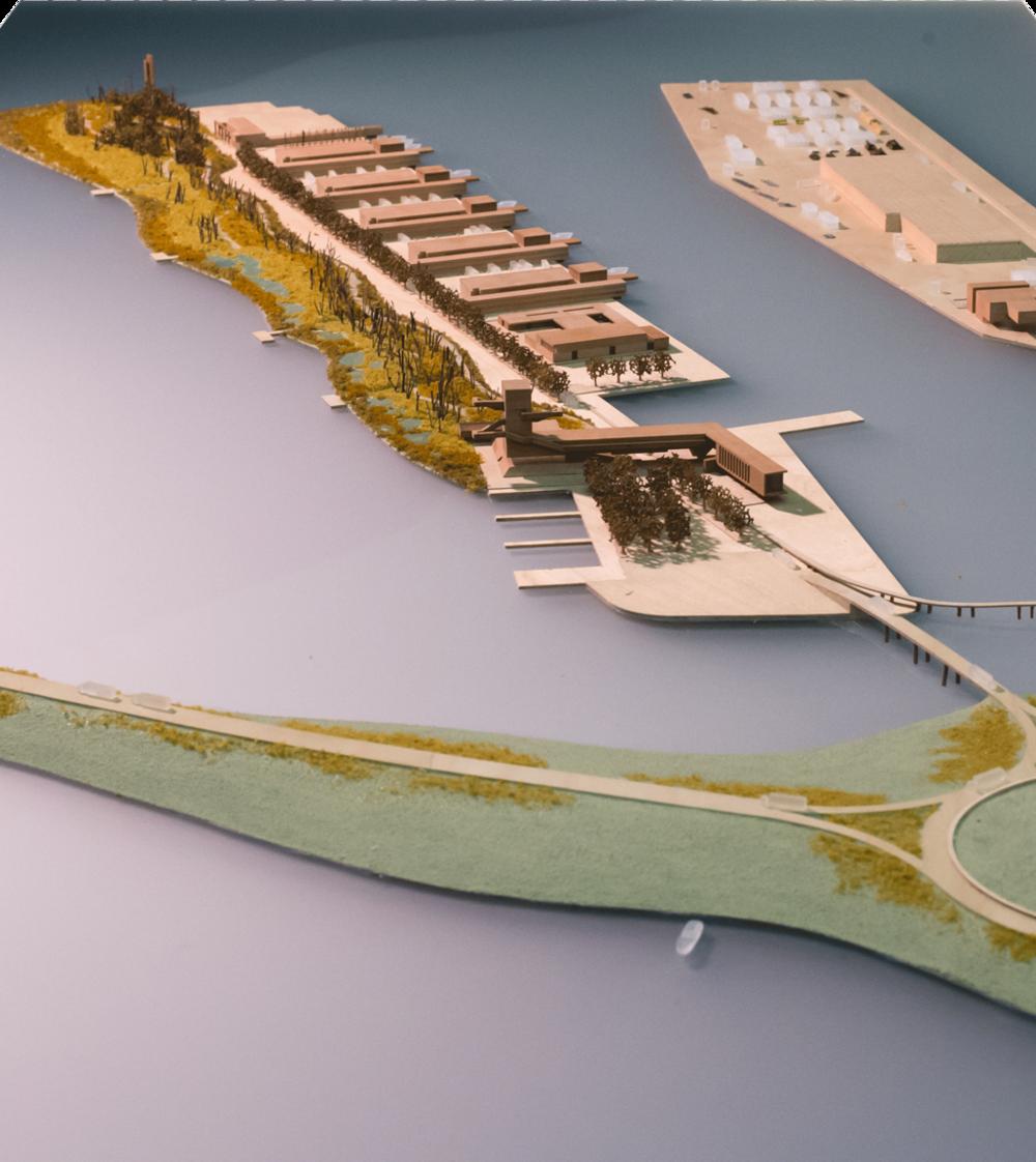 Modello fisico della nuova isola di Aleghero