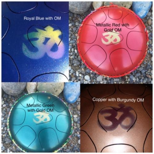 OM Symbol sound healing drums