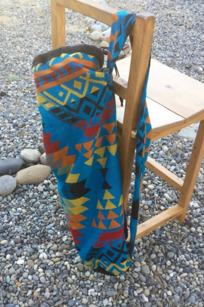 Turquoise Saddle Blanket Print