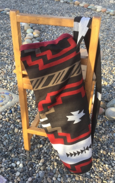 Black, White and Red Saddle Blanket Print