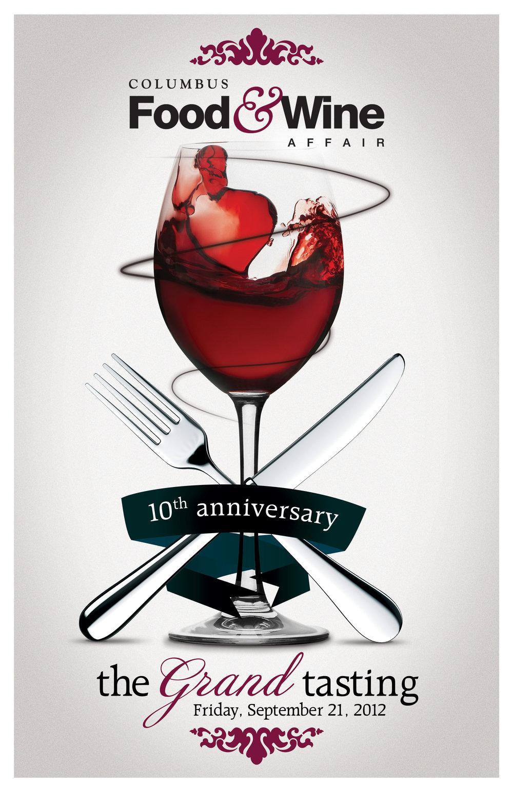 Columbus Food Wine Affair Poster Design STFNdesign Portfolio Of