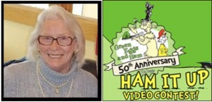 Virginia Pohlenz was 1 of 10 finalists in the Green Eggs & Ham 50th Anniversary video contest sponsored by Random House Children's Books.