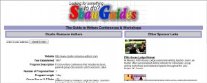 Ozarks Romance Authors' 2011 Conference is listed on the Shaw Guides web site.