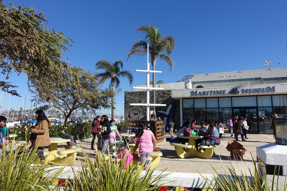 Picnic tables are available for you to eat lunch with a lovely Channel Islands Harbor view!