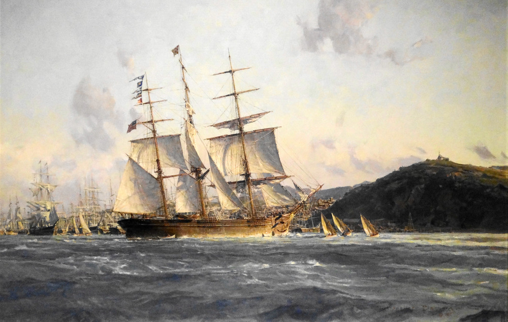 """Challenge"", Rounding Up, Preparing to Anchor, San Francisco, 1854"
