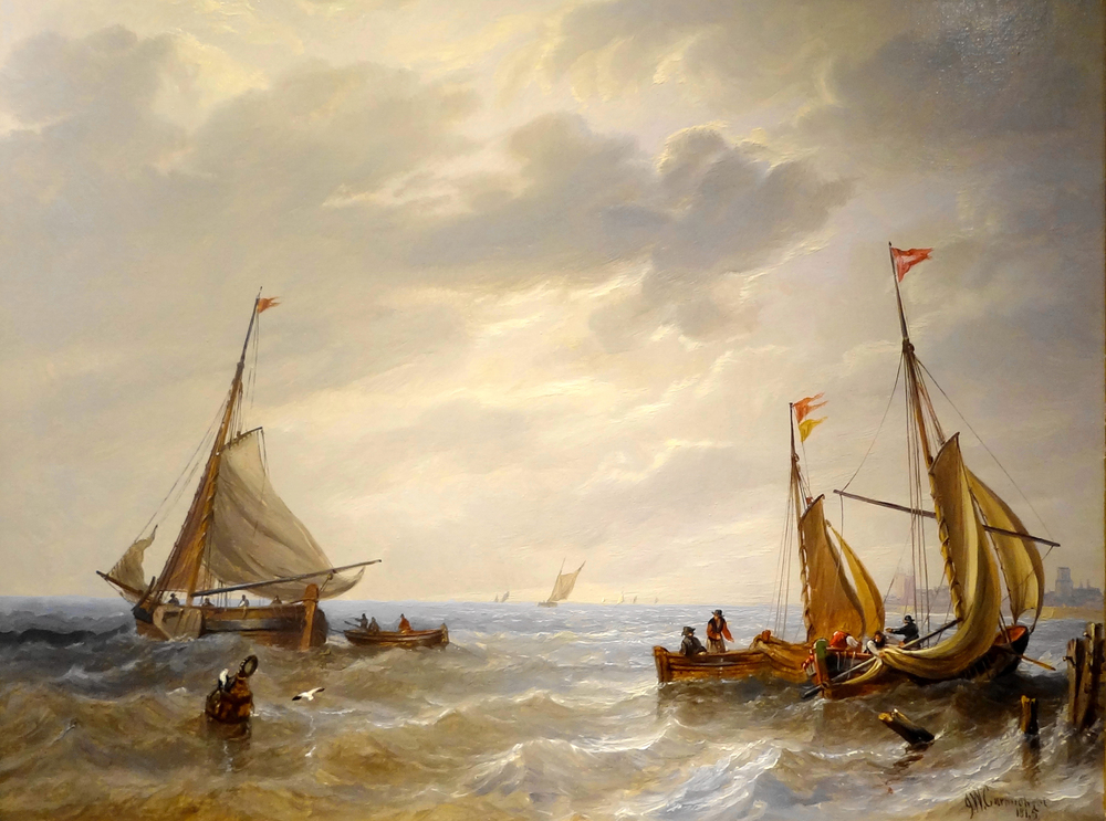 Boats Lowering Sails