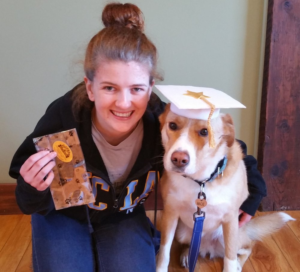 Macy graduates from Good Dog Class!