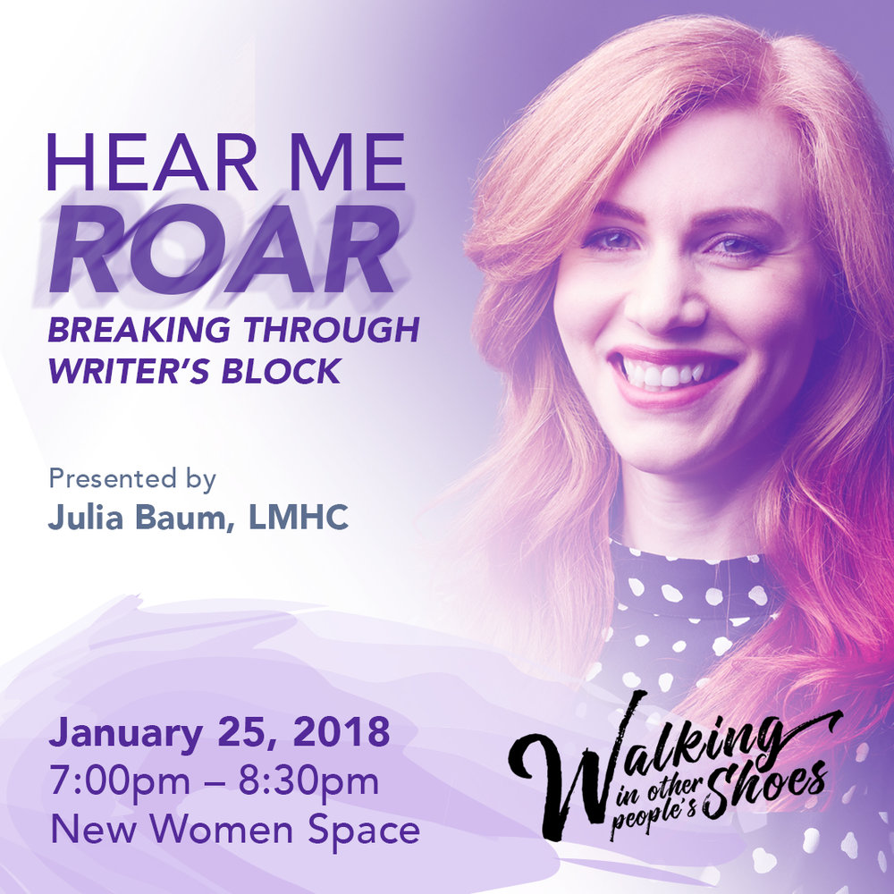 Julia Baum, LMHC - Breaking Through Writer's Block
