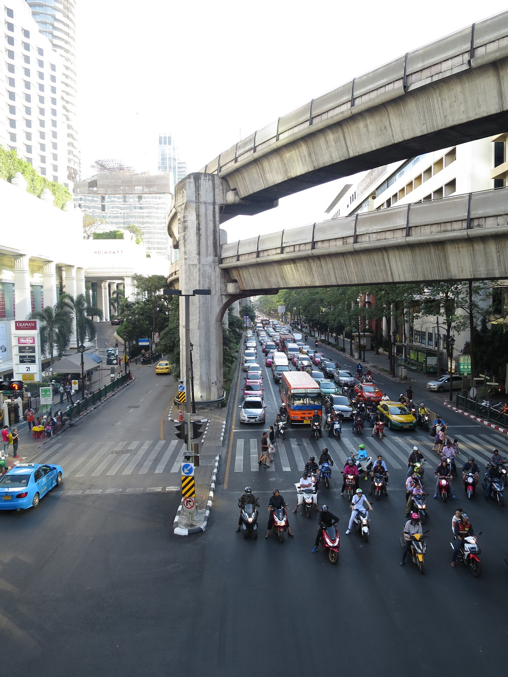 Sukhumvit with the BTS overhead