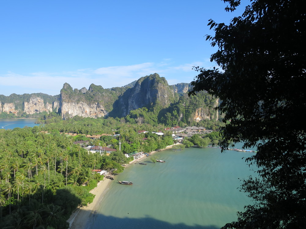 View from the top looking down on East Railay
