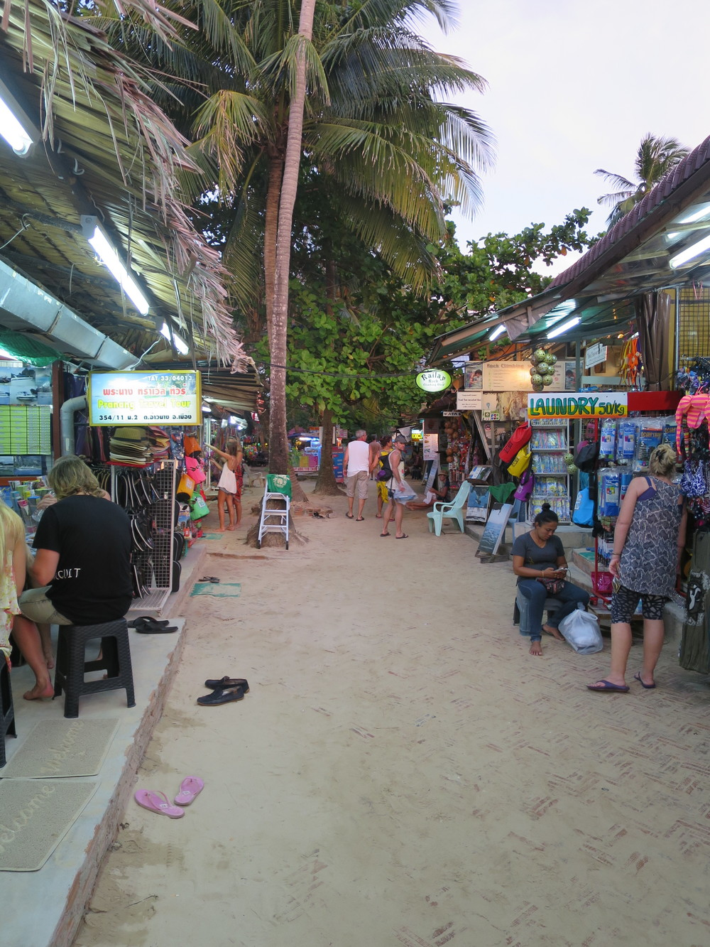 Main street on Railay